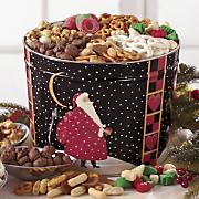 santa s snacks tin