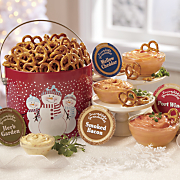 pretzels   cheese spreads
