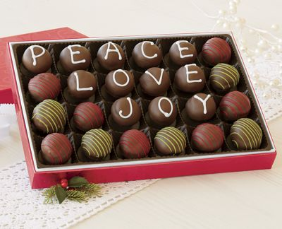 Peace, Love, Joy Truffles