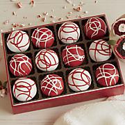 candy cane cake balls