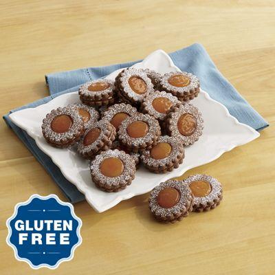 Gluten-Free Chocolate-Apricot Linzer Cookies