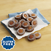 Gluten-Free Chocolate-Apricot Linzer Cookies