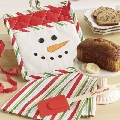 Snowman Potholder Set