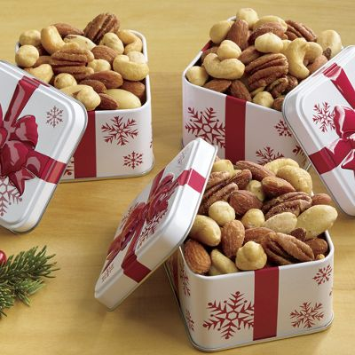 Mixed Nuts in Mini Tins