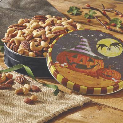 Mixed Nuts in Halloween Tin