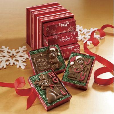 Trio of Chocolate Christmas Cards