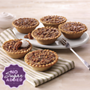 Six No Sugar Added Pecan Pies