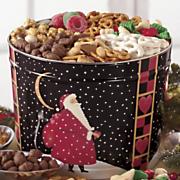 Postpaid Santa's Snacks Food Gift Tin