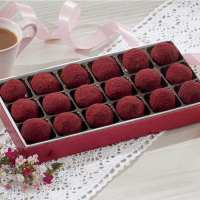 Red Velvet Fudge Balls