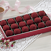 red velvet fudge balls