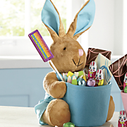 blue bunny basket food gift