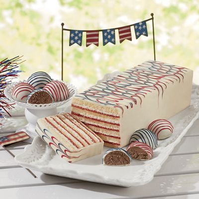 Red, White & Blue Torte