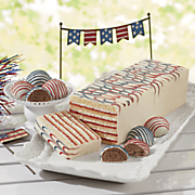 red  white   blue torte