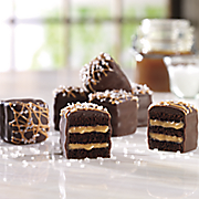 salted caramel petits fours