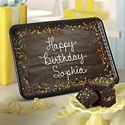 personalized birthday brownie