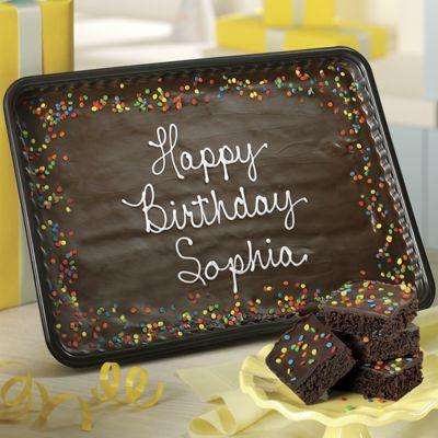 Personalized Birthday Brownie