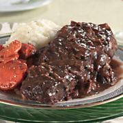 Boneless Beef Short Ribs with Mushroom Sauce