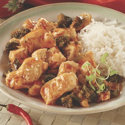 Sweet & Sour Chicken or Beef and Broccoli