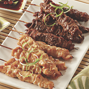 chicken beef satay