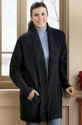 Bouclé Sweater Coat