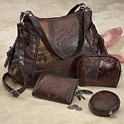 4 piece Leather Handbag Set