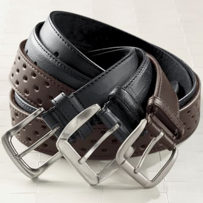 3-piece Men's Leather Belt Set