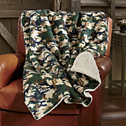 personalized camo throw