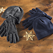 fleece hat and glove set