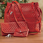 quilted handbag set