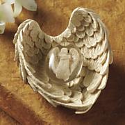 winged angel worry stone