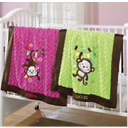 personalized monkey blanket