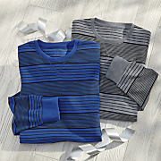 2 pack men s striped thermal shirt