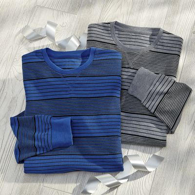 2-Pack Men's Striped Thermal Shirt