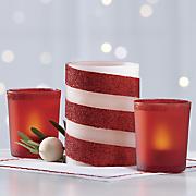 5 piece led glitter candle set