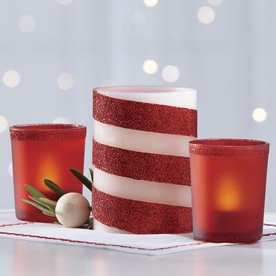 5-Piece LED Glitter Candle Set