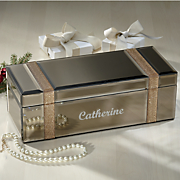 Personalized Mirrored Jewelry Box