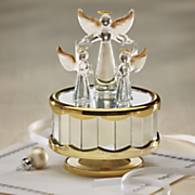 golden wings angel music box