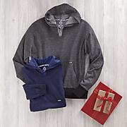 men s yarn dyed henley hoodie