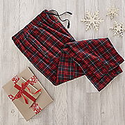 men s plaid fleece pant