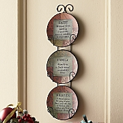 set of 3 inspirational plates with rack 5