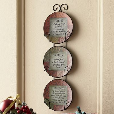 Set of 3 Inspirational Plates with Rack