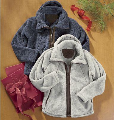 Fuzzy Fleece Hooded Jacket