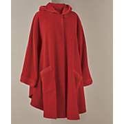 Sherpa-Trim Hooded Cape and Glove Set