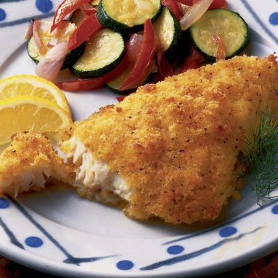 Lemon-Breaded Cod Fillets
