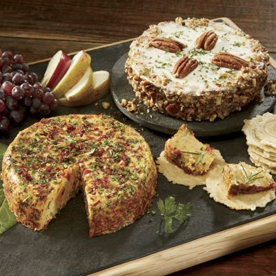 Garden Vegetable & Garlic Herb Cheese Wheels