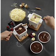 fondue set  chocolate fondue and swiss fondue blend