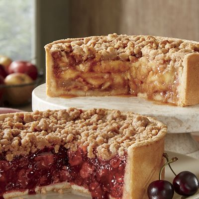 Deep-Dish Caramel Apple or Cherry Pie