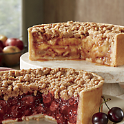 Deep Dish Caramel Apple or Cherry Pie