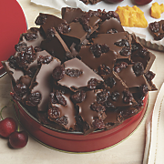 chocolate bark with cherries