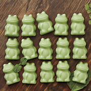 fudge filled mint frogs